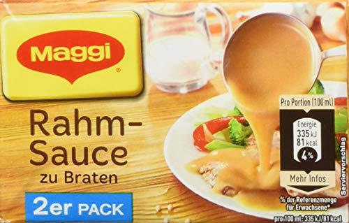 Maggi Delikatess Doppelpack Rahmsoße zu Braten, 18er Pack (18 x 500 ml Karton)