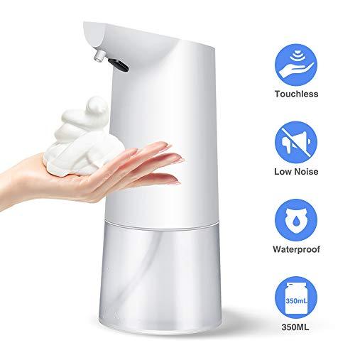 Dispensador de jabón automático, dispensadores de jabón de espuma infrarroja sin contacto Botellas de bomba, desinfectante de manos ajustable Dispensador de jabón de espuma para baño Cocina Oficina