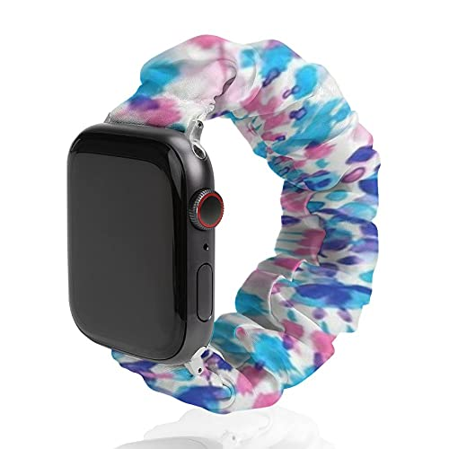 NiYoung Spiral Tie Dye Elastic Band for Apple Watch Bands 38mm 40mm Watch Strap Replacement Wrist Band for iWatch Series 6 5 4 3 2 1