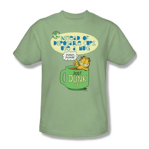 Garfield - Verwenden Sie eine Tasse - Adult Wasabi Kurzarm T-Shirt für Männer, XX-Large, Green