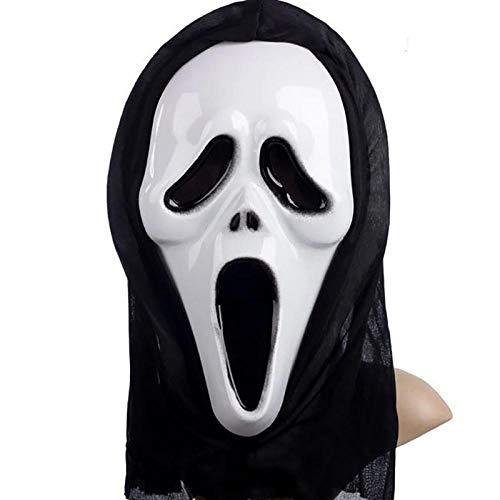 XWYWP Máscara de Halloween de fiesta de terror Máscaras gritando Máscaras de Halloween Grimace Máscaras Festival Suministros Para Niños Adultos Props Fiesta Regalo A
