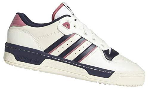 adidas Originals Rivalry Low Größe EU 49 1/3 UK 13.5 Weiß/Schwarz Hip Hop Retro Sneaker 80er Jahre Basketball Style Schuhe