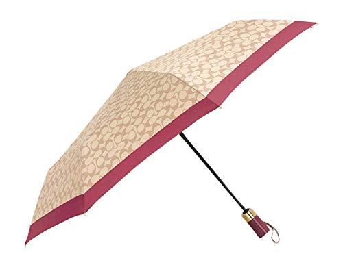 Coach New York Signature Full Size Umbrella Ivory Rouge
