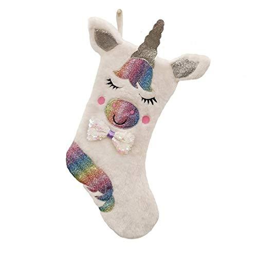 Natale Calze Unicorn Decorazioni Personalizzate Grande Calza di Sacchetti Regalo Famiglia dei Bambini Ornament