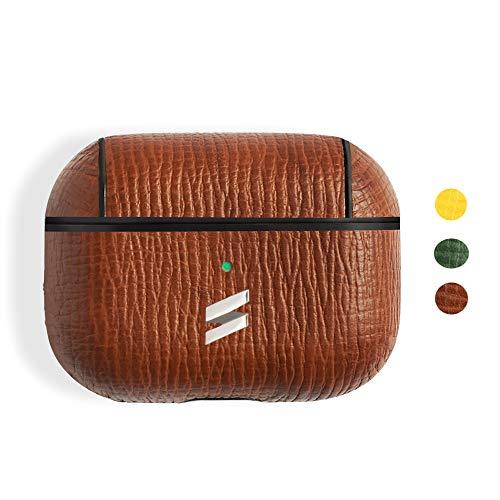 Suritt ® Funda para Airpods 1, 2 y Pro de Piel Corteccia (3 Colores Disponibles). (AirPods Pro, Brown)
