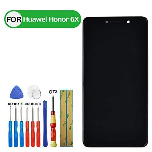 Swark - Pantalla LCD compatible con Huawei Honor 6X BLN-AL10 BLN-L21 BLN-L22 BLN-L24 (5,5 pulgadas, con herramientas), color negro