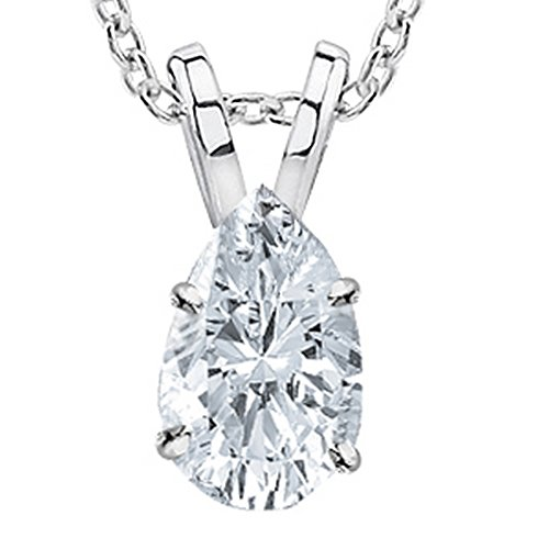 3 Carat Platinum GIA Certified Pear Cut Diamond Pendant Necklace Ultra Premium Collection (H-I Color, VS1-VS2 Clarity) 3.0 ct 20 in gold chain