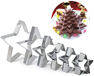 GWHOLE クッキー型 ステンレス 星型 抜き型 クリスマス アングルスタートップ製菓 キッチン 手作り 6個セット