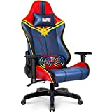 Marvel Avengers Massage Gaming Chair Desk Office Computer Racing Chairs - Adults Gamer Ergonomic Game Reclining High Back Support Racer Leather