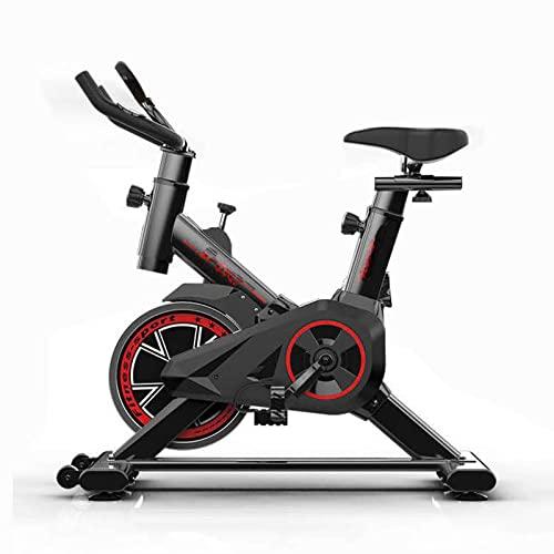 Bicicleta giratoria, equipo de gimnasia para interiores, transmisión por correa de dos vías, volante de inercia de gran tamaño, pantalla de reloj electrónico, bicicleta estática, carga máxima de 150 k