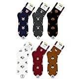 Small luxury socks factory Dálmata de perro, bulldog francés, husky siberiano, cocker spaniel, corgi galés, caniche Crew calcetines con bolsa paquete de 6 pares