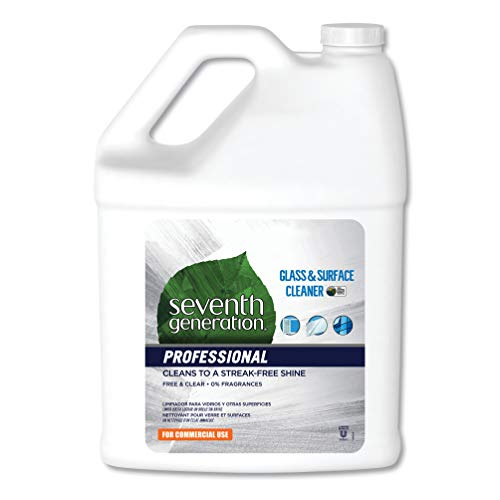Seventh Generation Professional Glass & Surface Cleaner Refill, Free & Clear, Unscented, 128 fl oz (Pack of 2)