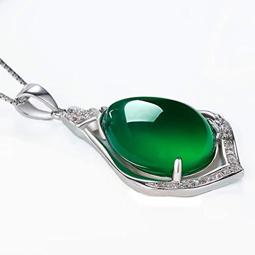 Lágrima con forma de gota collar colgante esmeralda verde jade collar joyería...