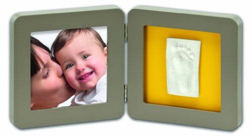 Baby Art Modern Print Frame - Taupe and Azure / Sun