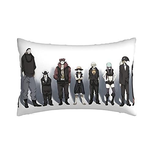 Funda de almohada de una pieza con cremallera invisible, linda decorativa, de lino, duradera, estilo fresco, de algodón, bolsa doble de verano negro, 35,5 x 50,8 cm
