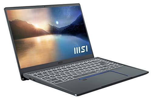 MSI Prestige 14 Evo A11M-005 (35,6 cm/14 Zoll/Full-HD/100% sRGB) Premium Laptop (Intel Core i7-1185G7, 16GB RAM, 512GB PCIe SSD, Intel Iris Xe Grafik, Windows 10) Carbon-Grau