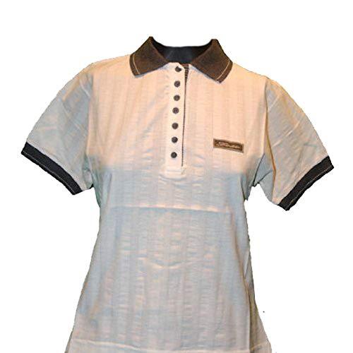 Lotto Poloshirt New Deal E, Damen, Gr. S (US), Creme weiß/Silbergrau