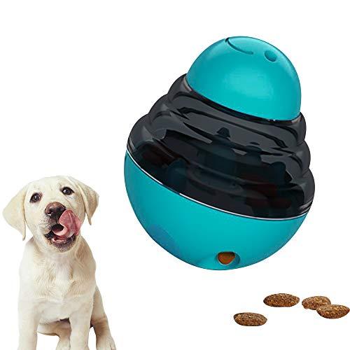 ZoneYan Pelota de Juguete para Perros, Dispenser de Premios Juguete para Perros, Juguetes Interactivos para Perros, Alimentador de Comida para Perros, Juguetes para Perros Interactivos IQ (Azul)