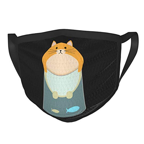 The cat in the tree black kitte Reusable Washable Cloth Face Protective Fabric Face Cover