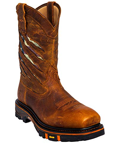 Cody James Men's Flag Western Work Boot Composite Toe - Dbp-3-A