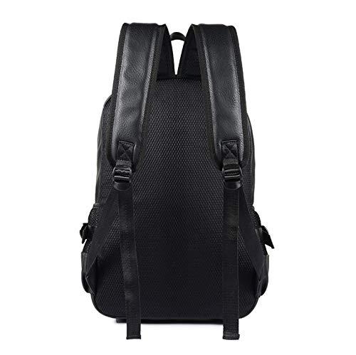 LMF Teen Uomini Backpack in Pelle Maschio Studente Viaggio Laptop Zaino in Zaino Zaina