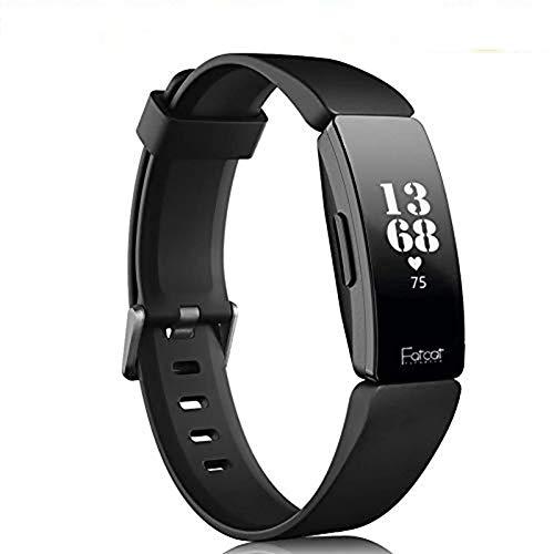 FatcatBand Compatible para Correa Fitbit Inspire & Inspire HR,Soft Silicona Deportes Recambio de Pulseras Ajustable Reemplazo Accesorios Compatible para Reloj Fitbit Inspire & Inspire HR