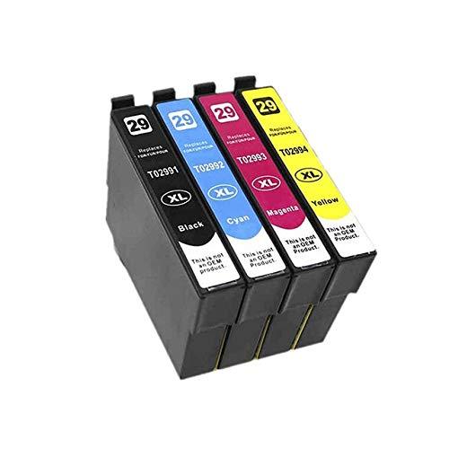 WXX Cartucho de Tinta T2991 29XL Compatible ASW for EPSON XP255 XP257 XP332 XP335 XP342 XP 235 245 247 255 257 332 335 342 (Color : 1set 4PK)