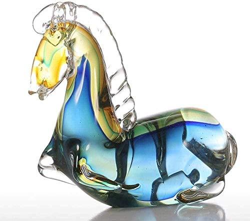 KUPR Ornement Figurine poupée décoration décoratif Animal Statue Jardin caractère décoration de la Maison Poney décoration de la Maison Chambre décoration Verre Bureau décoration