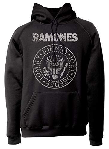 LaMAGLIERIA Sudadera Unisex Ramones Grunge Texture - Sudadera con Capu