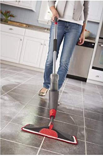 Rubbermaid Reveal Spray Microfiber Floor Mop Cleaning Kit for Laminate