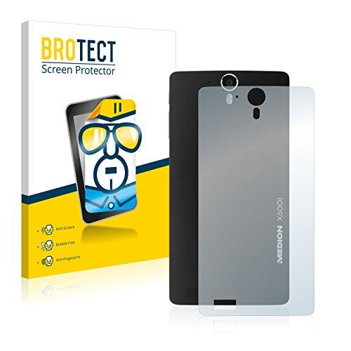 BROTECT Schutzfolie kompatibel mit Medion Life X6001 (MD 98976) (Rückseite) (2 Stück) klare Bildschirmschutz-Folie
