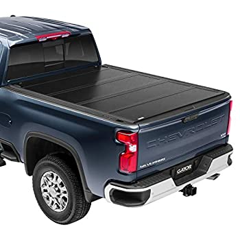 Gator FX Hard Quad-Fold Truck Bed Tonneau Cover | 8828130 | Fits 2019 - 2021 Chevy Silverado/GMC Sierra   Will not work w/Carbon Pro bed Works with Mutlpro tailgate 5  10  Bed  70