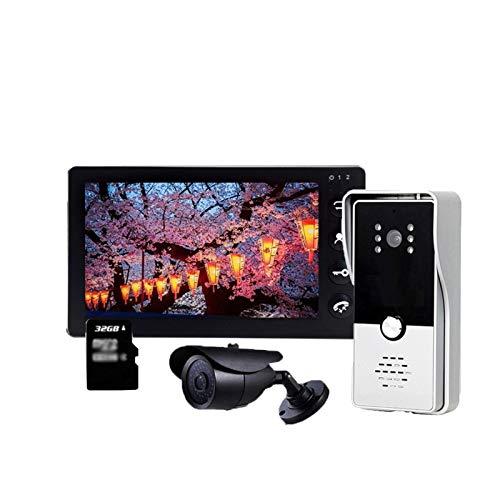 Portero Cámara de la puerta de video de video de 7 pulgadas con sensor de movimiento Sistema de intercomunicación del teléfono de la puerta del teléfono Día de la noche de la noche Cámara CCTV automat