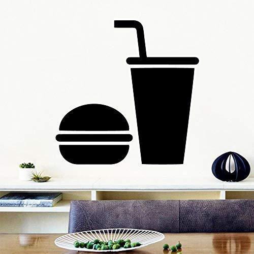 supmsds 3D Hamburger wasserdichte Wandaufkleber Wohnkultur Vinyl Aufkleber Art D 74X74CM