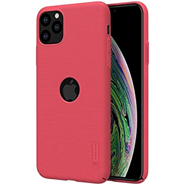 """Nillkin Case for Apple iPhone 11 Pro Max (6.5"""" Inch) Super Frosted Hard Back Cover PC with Logo Cut Red Color"""