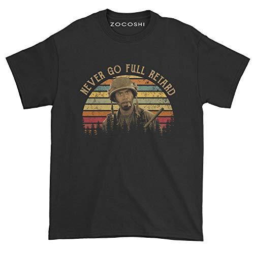 Zocoshi Men's Never Go Full Retard T-Shirt (XL, Black)
