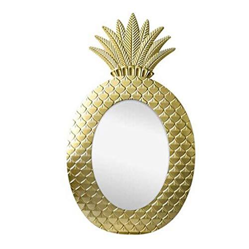 Wall Mirror Retro Golden Pineapple Creative Mirror Living Room Porch Wall Hanging Bedroom Vanity Mirror Bathroom Mirror