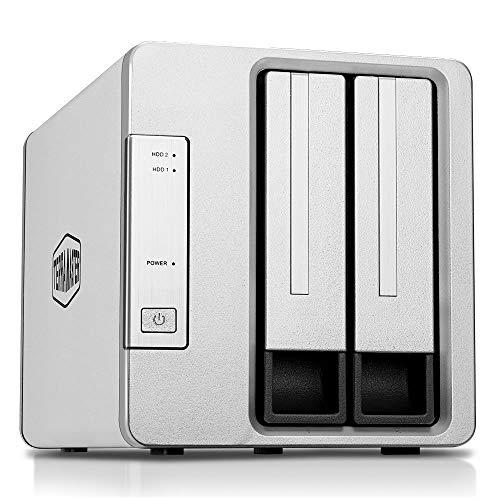 TerraMaster D2-310 USB Tipo C Disco Duro Externo Raid Caja USB3.1 (Gen1, 5Gbps) 2 Bahía Raid Almacenamiento (Sin Disco)