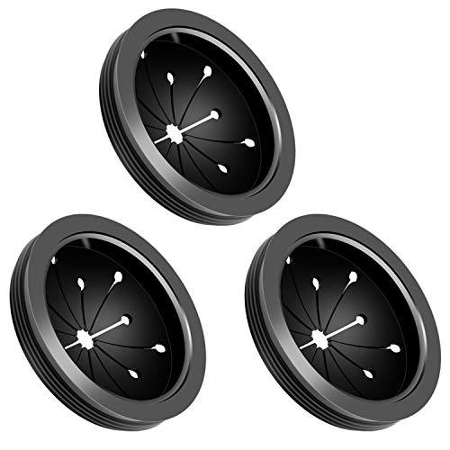 LUTER Abflusssieb Sieb Waschbecken Spüle Filter Silikon Sink Strainer Ersatz Waschbecken Baffle für Küche Badezimmer Ausguß(3 Pack)