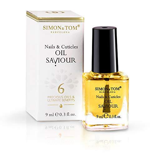 SIMON & TOM Nail Oil Saviour - NAGEL & NAGELHAUT Reparturöl - 6 Natürlichen Öle - Nährt - Regeneriert & Fördert das Wachstum - Geeignet für Natürliche & Acrylnägel - Vegan - Parabenfrei / 9 ml.