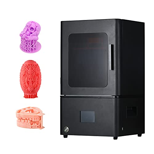 Jabey L809D Impresora 3D UV Photocurado LCD Resina Impresora 3D de Alta precisión con 8.9 Pulgadas 4K Monocromo LCD Impresión Fuera de línea Mute Volumen de construcción de la Placa Base