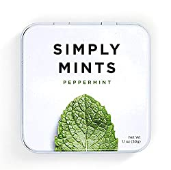 Peppermint container gum without aspartame