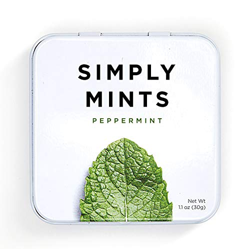 Simply Mints | Natural Peppermint Breath Mints | Pack of Six (270 Pieces Total) | Breath Freshening, Vegan, Non Gmo, Nothing Artificial