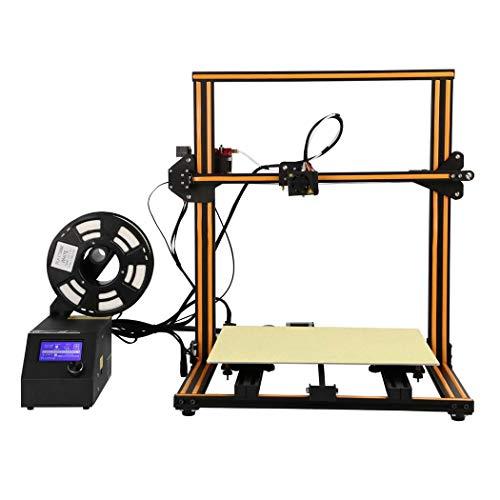 XYANZ 3D Printer Nouvelle Version, FDM Unique extrudeur, avec Plaque de Surface de Construction magnétique et Kit de Montage Rapide, Fonctionne avec ABS, PLA, TPU Filament,Orange