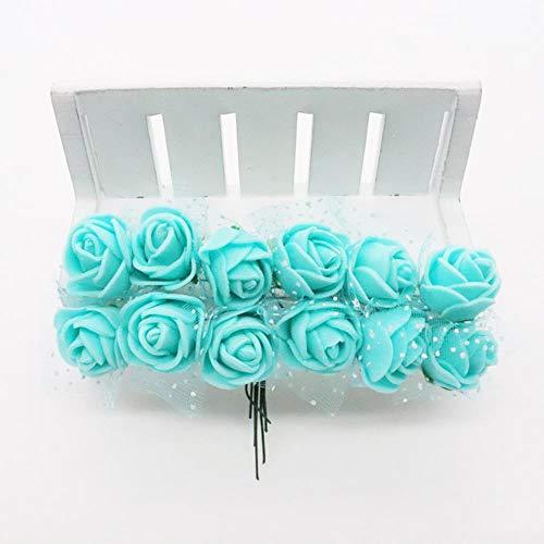 36/72/144 stks 2 cm Decoratieve Teddybeer Rose PE Foam Kunstbloem Boeket Voor Thuis Bruiloft Decoratie DIY Krans Nep Bloem, 4,72 stks