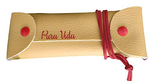 Funda Porta Mascarilla mostaza y rojo (edición