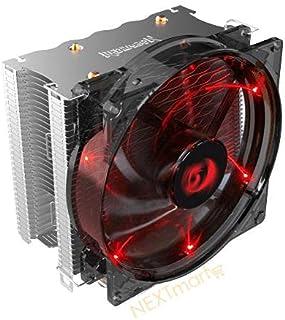 ريد دراغون CC-1011 مبرد وحدة المعالجة المركزية مع مروحة بإضاءة حمراء 120 مم و 4 أنابيب حرارية متوافقة جميع انواع البروسيسور