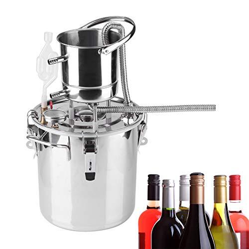 Zouminyy Kit para hacer vino, caldera casera de acero inoxidable Kit de dispositivo para hacer vino con alcohol Equipo para destilación de agua(10L)
