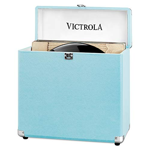 VSC-20-TRQ-EU Maleta de Almacenamiento Portátil Victrola Vinilos Record LP