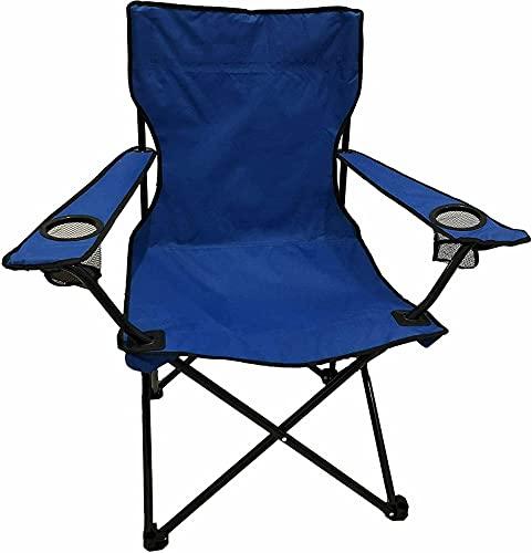 Bravo Home - Silla de camping plegable de acero 50 x 50...